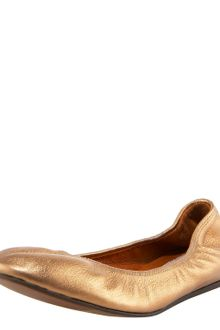 Lanvin Metallic Leather Ballerina - Lyst