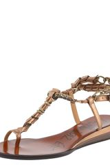 Lanvin Toe-ring Wedge Sandal - Lyst