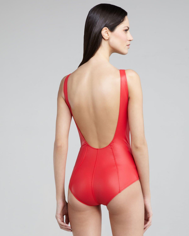 2f082531af Lyst - Lisa Marie Fernandez Jasmine Zip-up Low-back One-piece ...