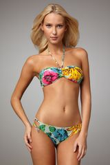 Marc By Marc Jacobs Havana Floral-print Bandeau Top