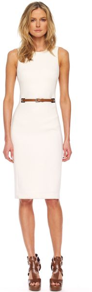 Michael Kors Beltedwaist Sheath Dress - Lyst