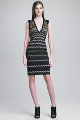 Missoni Zigzag Knit Fitted Dress - Lyst