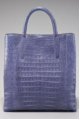 Nancy Gonzalez Crocodile Magazine Tote - Lyst