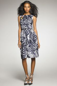 Oscar de la Renta Patchwork Sequined Dress - Lyst