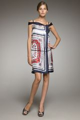 Philosophy di Alberta Ferretti Nautical print Wrap Dress - Lyst