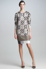 Piazza Sempione Printed Shift Dress - Lyst