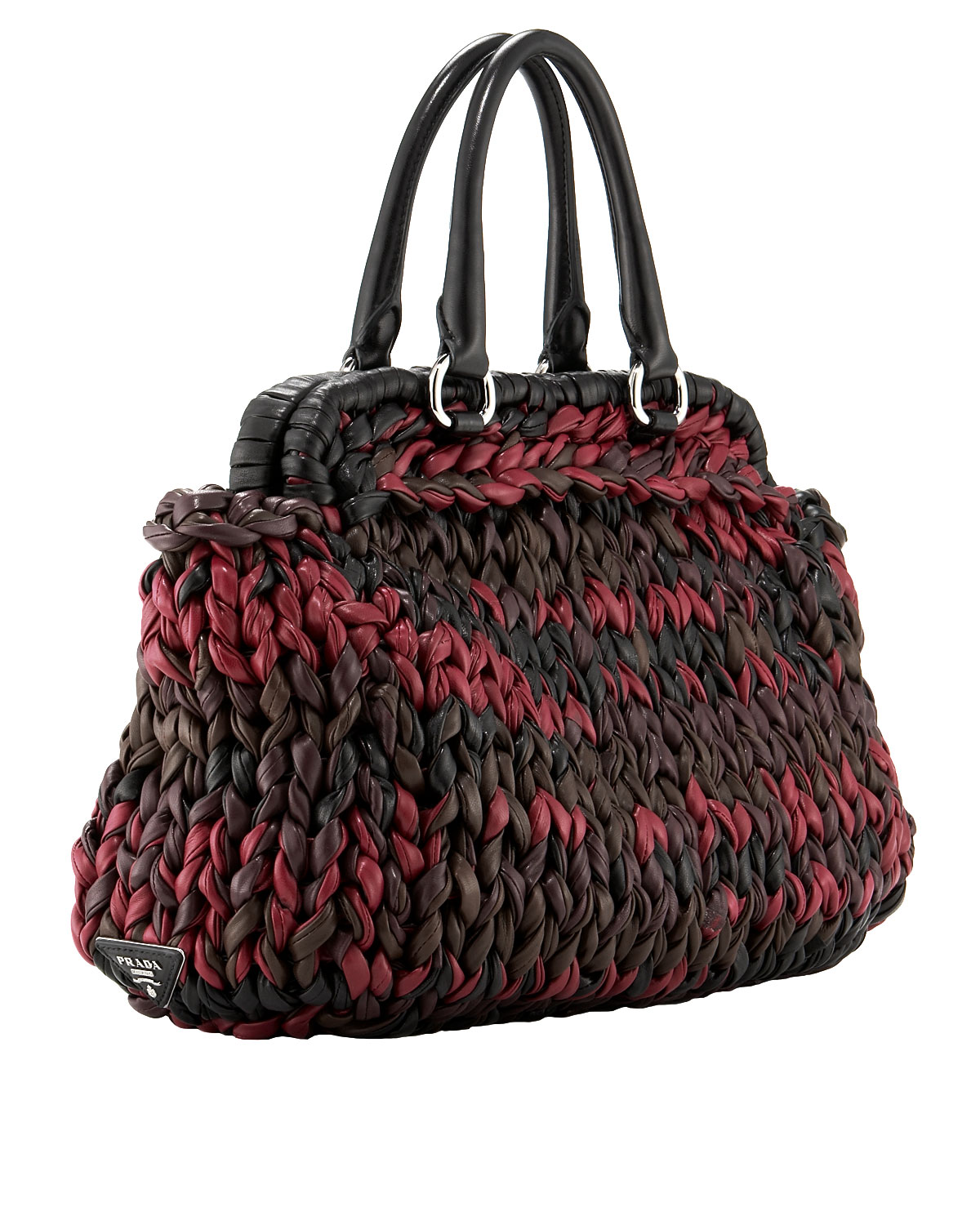 Prada napa knit tote in red lyst gallery bankloansurffo Gallery