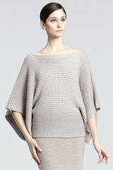 Ralph Lauren Black Label Ribbed Off-the-shoulder Sweater - Lyst