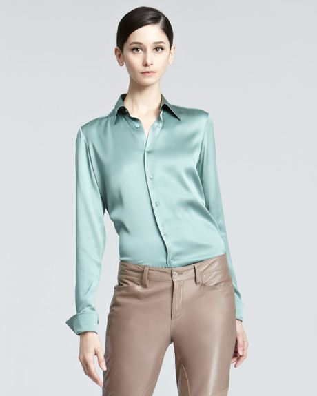 Green Charmeuse Blouse 88