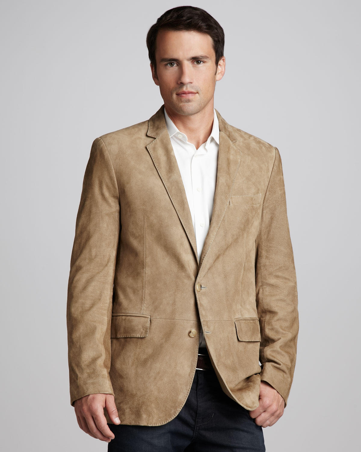 Ralph lauren black label Anthony Suede Sport Coat in Brown for Men ...