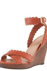 See By Chloé Scallop-strap Wedge Sandal - Lyst