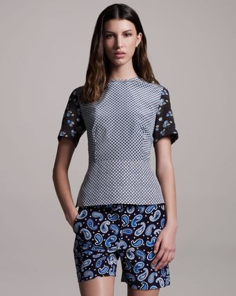 Stella McCartney Paisley Stretch-silk Shorts - Lyst