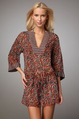 Tory Burch Mixedprint Coverup - Lyst