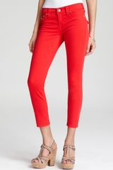 True Religion Jeans Brooklyn Crop in Cherry - Lyst