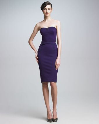 Zac Posen Strapless Sheath Dress - Lyst