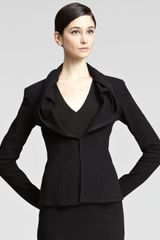 Donna Karan New York Grosgraintrim Jacket - Lyst