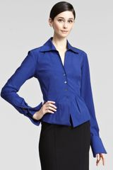 Donna Karan New York Taffeta Blouse - Lyst