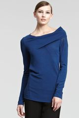Donna Karan New York Asymmetric Knit Top - Lyst
