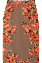 Erdem Shona Printed Cotton Skirt - Lyst