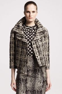 Giambattista Valli Oversizedcollar Tweed Jacket - Lyst