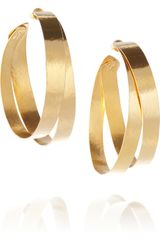 Herve Van Der Straeten 24karat Goldplated Hoop Earrings - Lyst