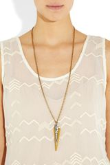 Lulu Frost Crystal and Resin Spike Necklace in Gold - Lyst