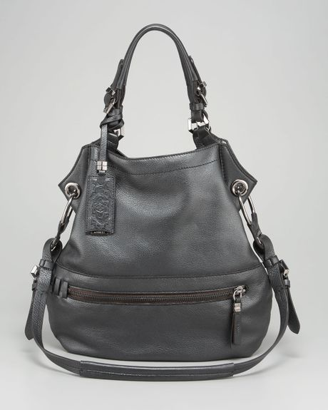 Oryany Gwen Black Leather Shoulder Bag 37