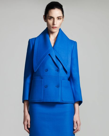 Stella Mccartney Exaggeratedcollar Jacket in Blue (ultra blue) - Lyst