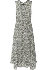 Theyskens' Theory Darlon Floralprint Silk Dress - Lyst