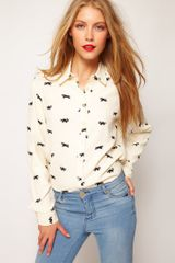 ASOS Collection Asos Shirt with Raccoon Print - Lyst