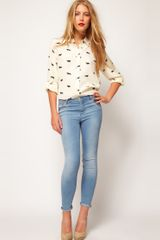Asos Collection Asos Shirt with Raccoon Print in Beige (creamblack) - Lyst