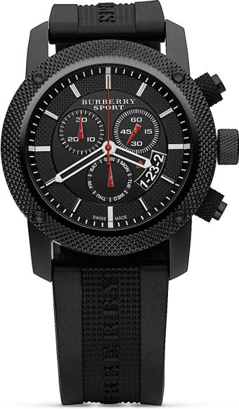Burberry Sport Chronograph Watch with Black Strap 44 Mm - Lyst