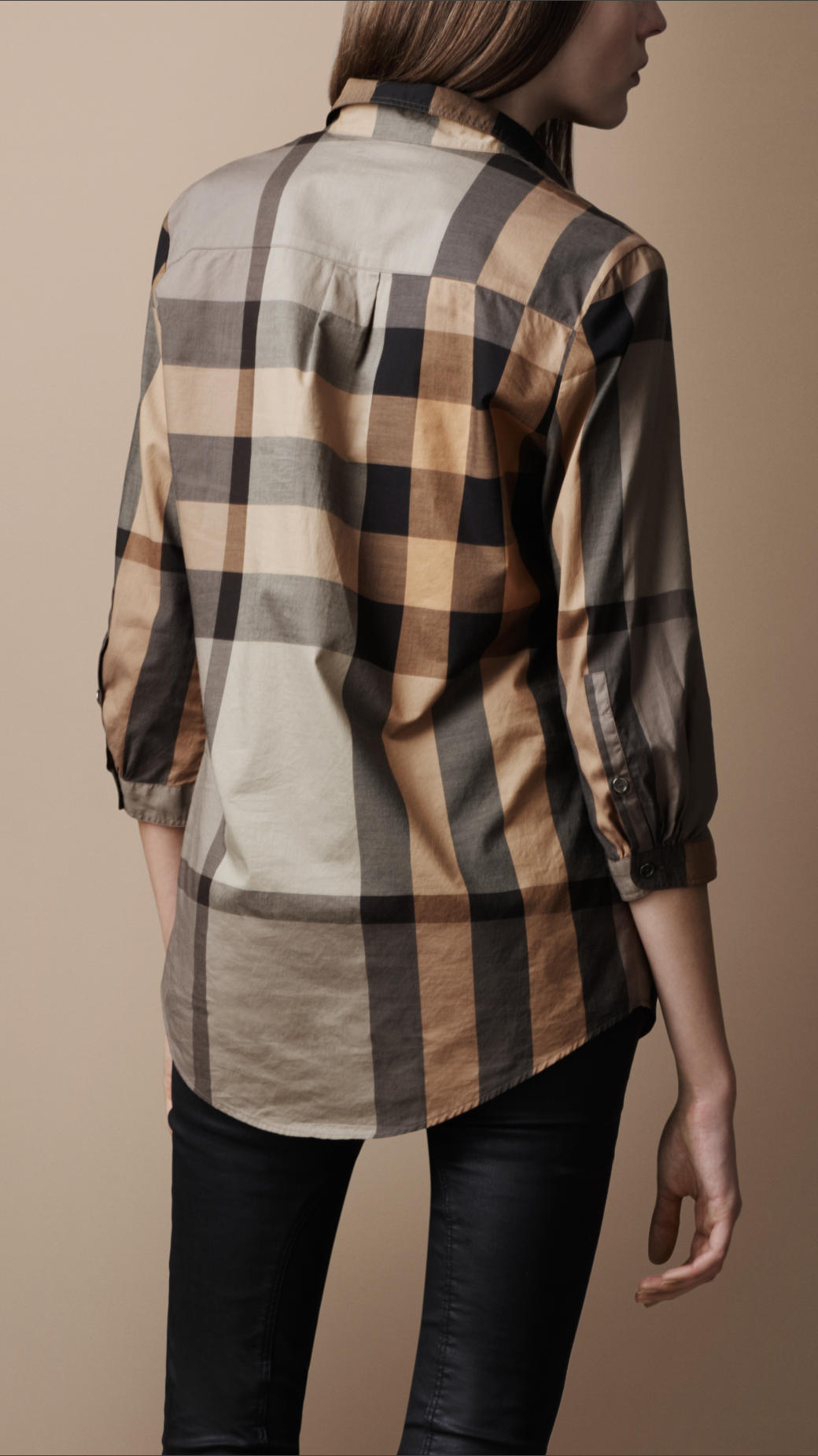 Lyst Burberry Brit Check Tunic Shirt In Natural