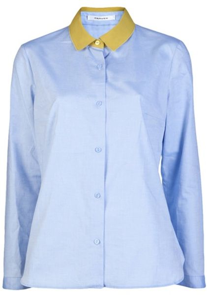Carven Collar Top in Yellow