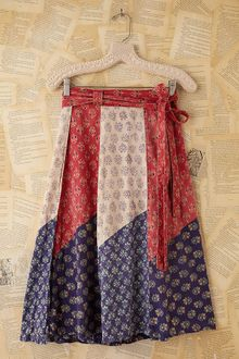 Free People Vintage Printed Wrap Skirt - Lyst