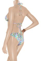 Matthew Williamson Geometricprint Triangle Bikini in Blue (sky) - Lyst