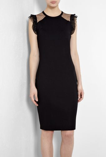 RED Valentino Tulle Jersey Pencil Dress - Lyst