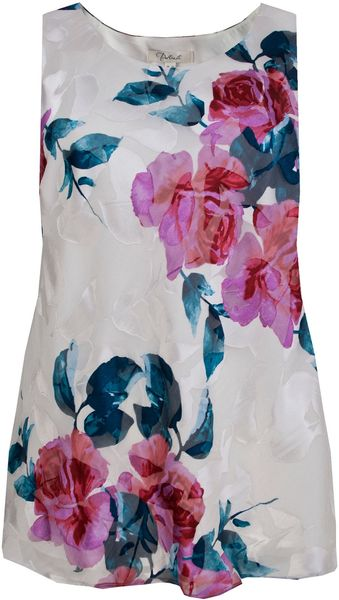 Ann Harvey Rose Print Shell Top - Lyst