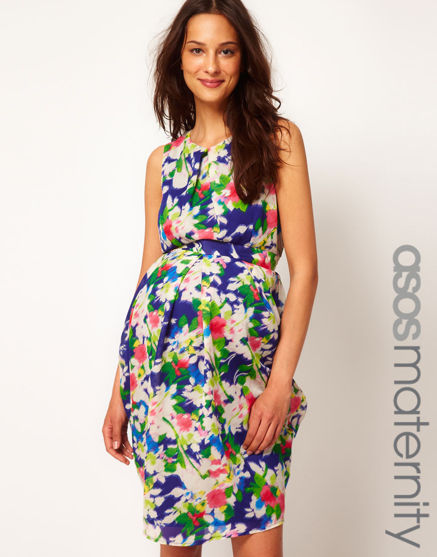 asos maternity floral dresses