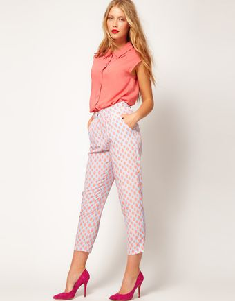 ASOS Collection Asos Peg Trousers in Spot Print - Lyst