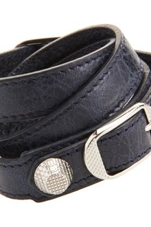Balenciaga Arena Giant Double Tour Bracelet Dark Night - Lyst