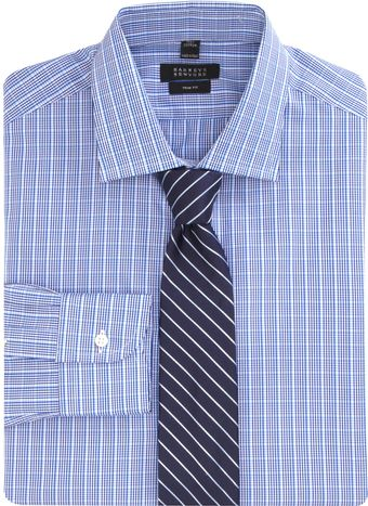 Barneys New York Bold Plaid Dress Shirt - Lyst