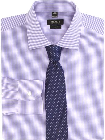 Barneys New York Check Dress Shirt - Lyst
