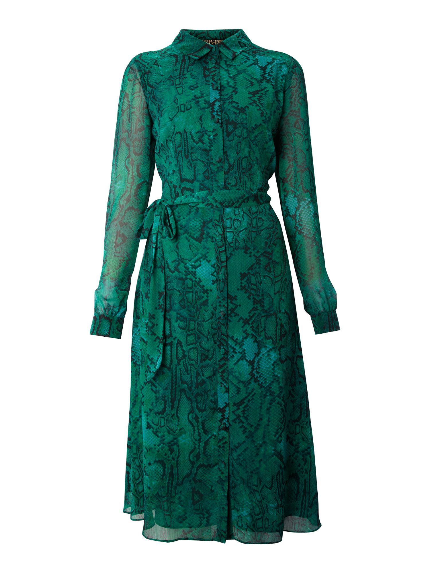Biba Snake Printed Shirt Dress in Green (azure) | Lyst