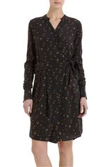 Boy by Band Of Outsiders Gold Print Shirt Dress - Lyst