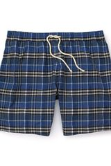 Burberry  Bridler Check Swim Trunk - Lyst