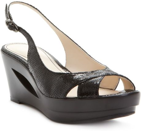Calvin Klein Rosaria Wedge Sandals in Black - Lyst