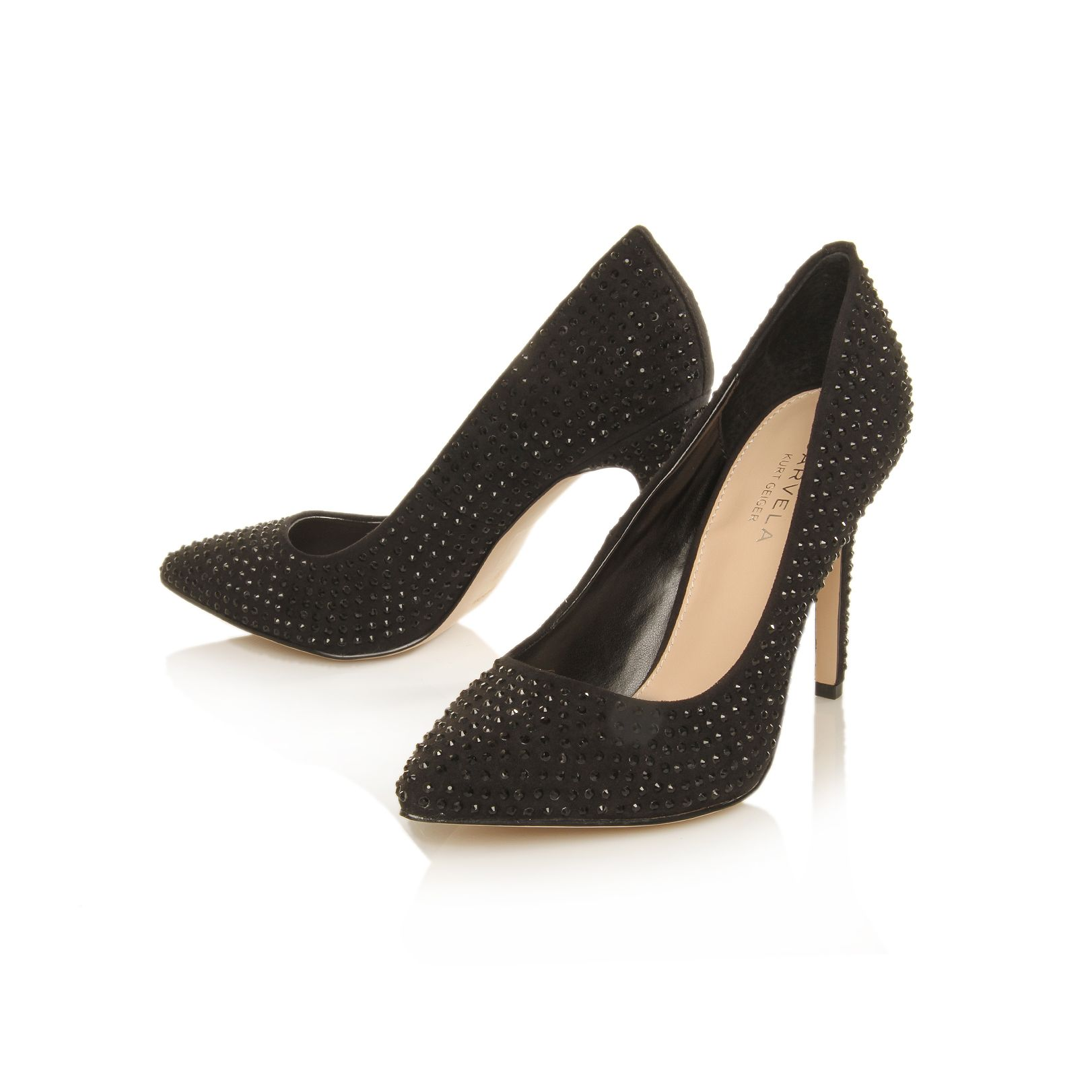 Carvela Kurt Geiger Grand Pointed Court Shoes With Stones