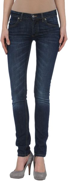 Cheap Monday Denim Trousers in Blue - Lyst