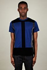 Christopher Kane Christopher Kane Mens Flock Panel Tshirt in Blue for Men - Lyst